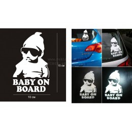 Funny baby in car vinyl decal