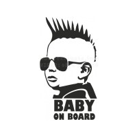 Punk Baby on board sticker