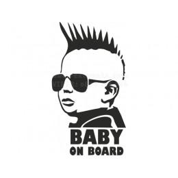 Punk Baby on board sticker