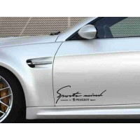 Sport mind Decals for Peugeot  2 pc