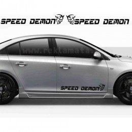 Speed demon decals 2 pc