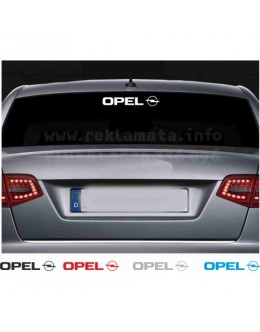 Decals for cars, Opel, Back window