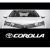 Toyota Corolla, front window sticker