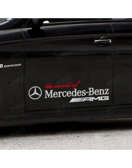 2 - the World of Mercedes Benz AMG Vinyl Reflective Car Auto Logo Decal Sticker