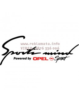 Sport mind Opel decal Lights tunning stickers