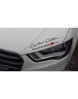 2 x Limited edition Audi S Line Decal Sticker compatible with Audi S3 S4 S5 S6