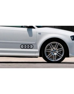 AUDI LOGO Stickers Decals TT A3 A4 A6 A8 S4 S5 Q3 Q5 Q7 S6 RS4 RS6 S line#2
