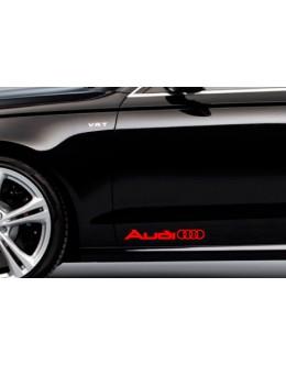 2 AUDI Rings Logo Side Trunk Decal Sticker A4 A5 A6 A8 S4 S5 S8 Q5 Q7 TT