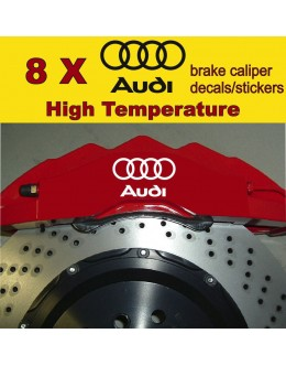8 X Audi Brake Caliper Decals Stickers Vinyl