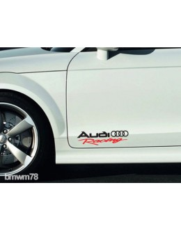 2 AUDI Racing Decal Sticker A4 A5 A6 A7 A8 S4 S5 S8 Q5 Q7 RS TT