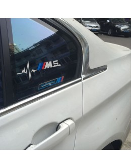 2pcs for BMW M5 is in my Blood Hearbeat Window Sticker Decals Graphic