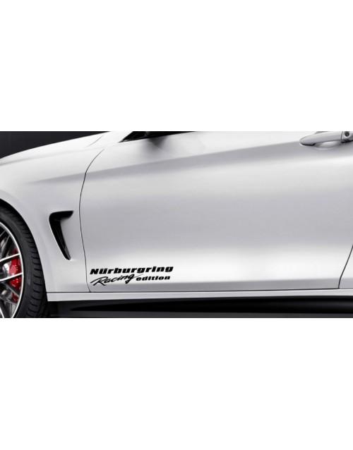RACING EDITION Vinyl Decal sport door sticker fits BMW BLACK logo