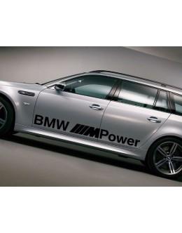 BMW E60 E61 5 Series BMW M Power side graphics decal