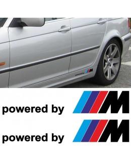 2x BMW powered by M M3 M5 M6 325 328 540 Decal sticker side Custom emblem logo
