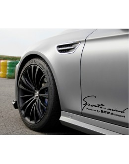 2 Sports Mind Powered by BMW Motorsport Decal sticker#2
