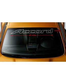 """HONDA ACCORD OUTLINE Windshield Banner Vinyl Premium Decal Sticker 40""""x5"""""""