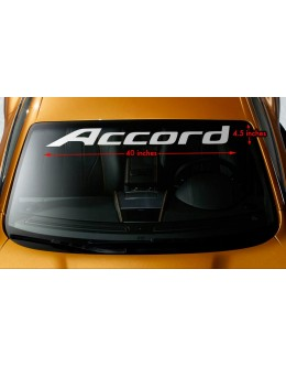 "HONDA ACCORD Windshield Banner Vinyl Long Lasting Premium Decal Sticker 40""x4.5"""