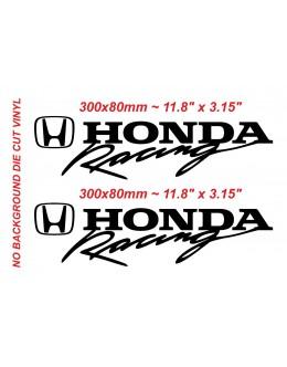 2x Honda Racing Type R sticker Vinyl Die cut Honda Racing Black Decal