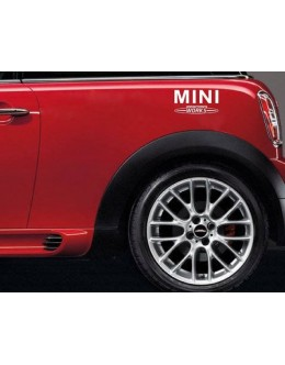 2pair (4pcs) 8 MINI JCW Vinyl Decal Sticker Graphic Fender MINI COOPER JCW S