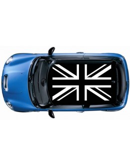 1set (4pcs) British Flag ROOF Vinyl Decal Graphic Mini cooper S JCW Black Color