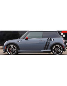 Mini Cooper S JCW Clubman Countryman Angled Side Stripes Graphics British Flag