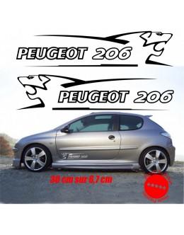 Sticker decal Peugeot 206 30 cm lion V1