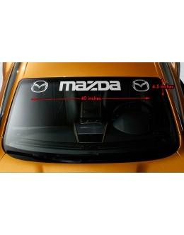 "MAZDA STYLE #3 Windshield Banner Vinyl Long Last Premium Decal Sticker 40""x4.5"""