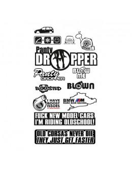 Set of stickers for car, car, sticker logo
