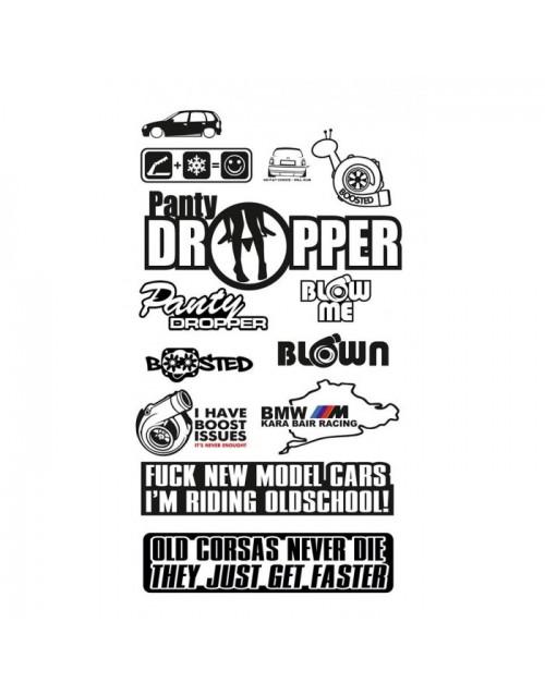 Set of stickers for car car sticker logo