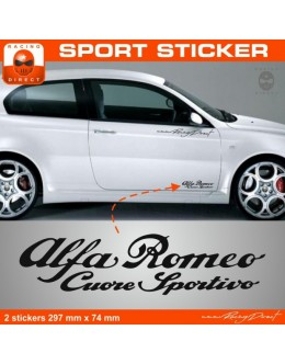 Alpha Romeo sticker 2 pieces
