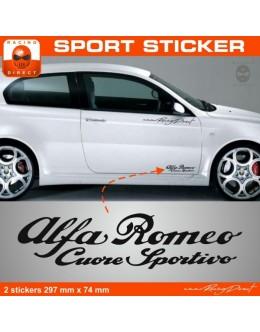 Alpha Romeo sticker 2 pieces