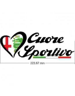 Sticker sticker Alfa romeo Cuore sportivo logo
