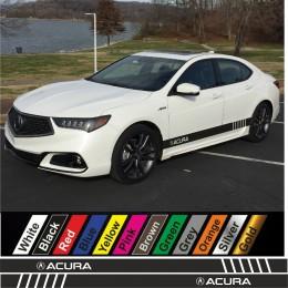 Acura Side Racing Stripes