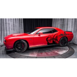 Hellcat, decals racing, stickers, Dodge, 2 big decals for left and right side, Super bee