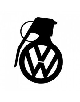Gun with VW logo, sticker, patch suitable for all models of VW Volkswagen