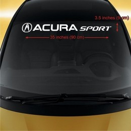 Acura sport Car Decals, front window , fits any car model