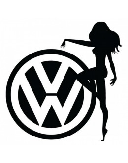 The lady and VW logo, sticker, patch suitable for all models of VW Volkswagen