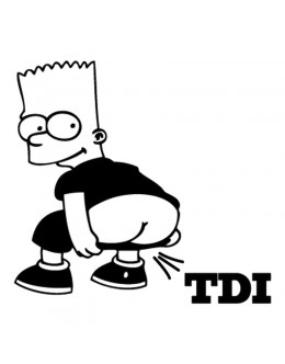 Bart farting TDI Decal