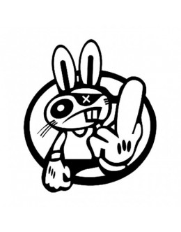 Crazy Rabbit Decal