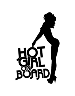 Hot girl on board Decal