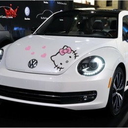 Hello Kitty hood decal fits all types and models