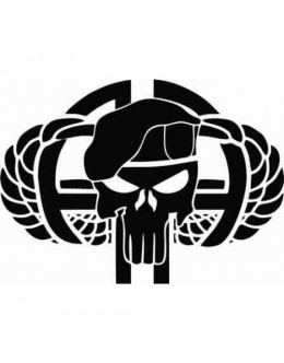 Airborne Punisher Sticker for Rear Window Defender