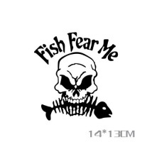 Fish fear me, sticker, car decals