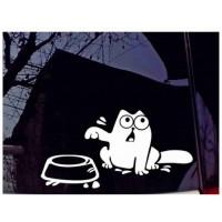 Simon the cat sticker, sticker for car, car, glass