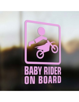 Baby motorcycle in the car, pink for a girl