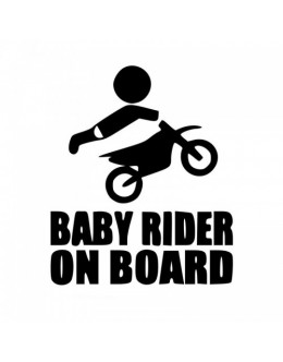 Baby motorbike in the car, boy