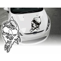 Skull Decals Hood Any car
