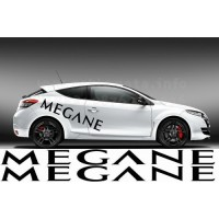 Megan car  Decals Renaul 2 pc