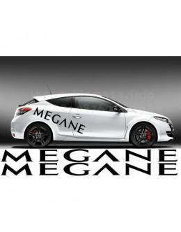 Megan car  Decals Renaul 2 pc