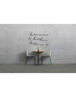 Live, Laugh, Love Phrase Wall Decals
